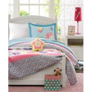 Zone Mi Zone Kids Crazy Daisy 4-Pc. Full/Queen Coverlet Set Bedding  - Multi