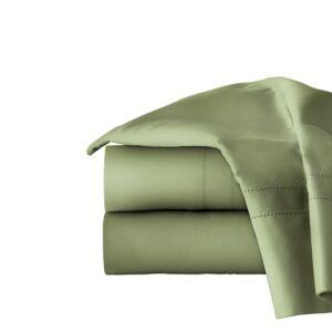 Pointehaven Solid 4-Pc. Queen Sheet Set, 620 Thread Count Cotton Bedding  - Moss