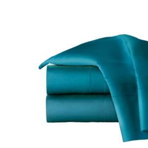 Pointehaven Solid 4-Pc. Queen Sheet Set, 620 Thread Count Cotton Bedding  - Teal