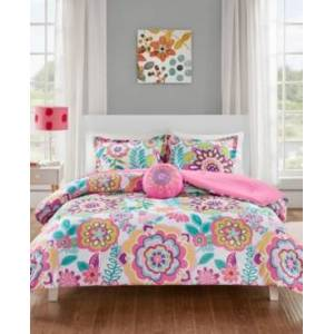 Zone Mi Zone Camille 4-Pc. Full/Queen Floral Comforter Set Bedding  - Pink