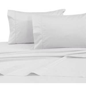 Tribeca Living 750 Thread Count Cotton Sateen Extra Deep Pocket King Sheet Set Bedding  - White