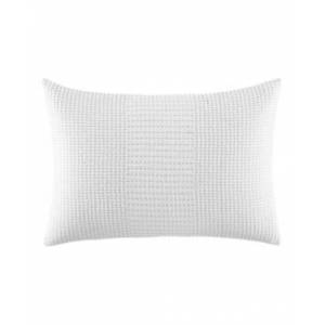 Vera Wang Ghost Flower Blocked Running Stitch Breakfast Pillow Bedding  - White