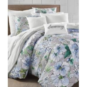 Charter Club Damask Designs Floral Blooms 300-Thread Count Full/Queen Duvet Set, Created for Macy's Bedding  - Grey