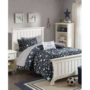 Zone Mi Zone Kids Starry Night 6-Pc. Twin Comforter Set Bedding  - Charcoal