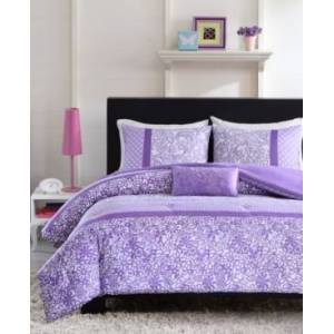 Zone Mi Zone Riley 4-Pc. Full/Queen Comforter Set Bedding  - Purple