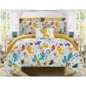Chic Home Flopsy 6 Piece Twin Bed In a Bag Comforter Set Bedding  - Yellow