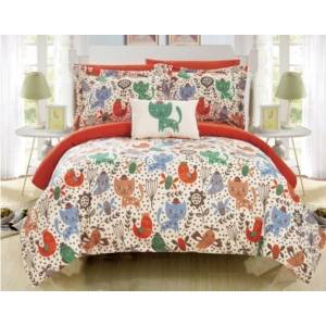 Chic Home Flopsy 6 Piece Twin Bed In a Bag Comforter Set Bedding  - Orange