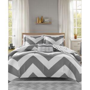 Zone Mi Zone Libra Reversible 4-Pc. Full/Queen Comforter Set Bedding  - Grey