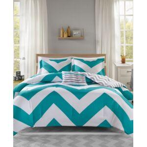 Zone Mi Zone Libra Reversible 4-Pc. Full/Queen Comforter Set Bedding  - Blue