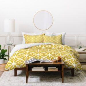 Deny Designs Heather Dutton Diamante Gold Duvet Set, King Bedding  - Multi