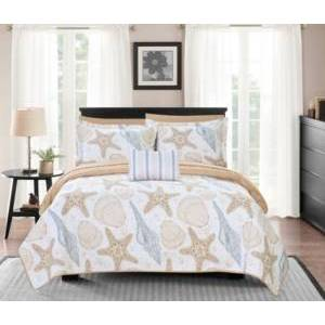 Chic Home Maritime 8 Piece King Bed in a Bag Quilt Set Bedding  - Multi Color