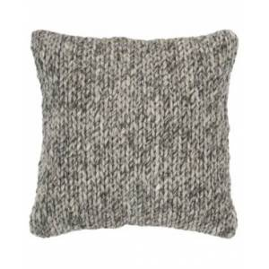 """Rizzy Home Braid Down Filled Decorative Pillow, 20"""" x 20""""  - Gray"""