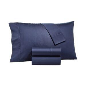 Aq Textiles Camden Sateen 1250-Thread Count 4-Pc. California King Sheet Set Bedding  - Navy