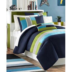 Zone Mi Zone Pipeline 4-Pc. Reversible Full/Queen Comforter Set Bedding  - Navy