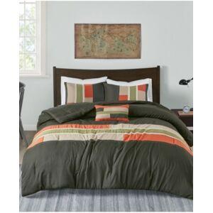 Zone Mi Zone Pipeline 4-Pc. Reversible Full/Queen Comforter Set Bedding  - Olive