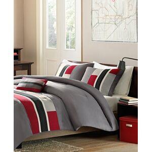 Zone Mi Zone Pipeline 4-Pc. Reversible Full/Queen Comforter Set Bedding  - Red