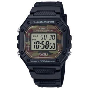 Casio Men's Digital Black Resin Strap Watch 43.2mmx43.2mm  - Brown