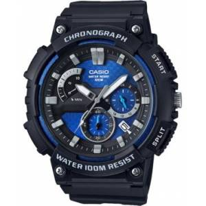 Casio Men's Chronograph Black Resin Strap Watch 53.5mm  - Black