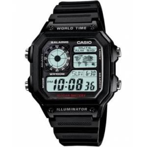 Casio Unisex Digital Black Resin Strap Watch 39.5mm  - Black