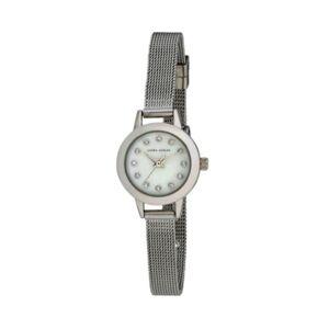 Laura Ashley Women's Mini Case Silver Tone Alloy Bracelet Watch 22mm  - Silver