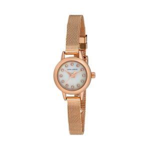 Laura Ashley Women's Mini Case Pink Alloy Bracelet Watch 22mm  - Blush
