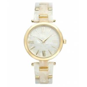 Inc International Concepts Inc Imitation Mother-of-Pearl Bracelet Watch 40mm, Created for Macy's  - Gold