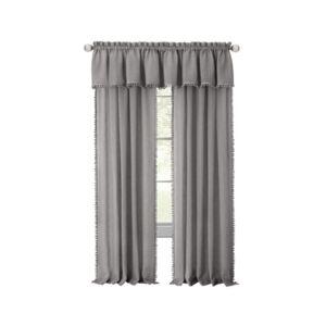 Achim Wallace Rod Pocket Window Curtain Panel, 52x63  - Grey