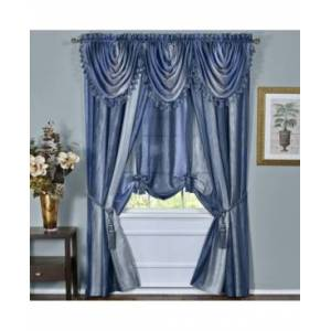 Achim Ombre Waterfall Valance  - Blue