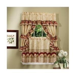Achim Sunflower Cottage Window Curtain Set, 57x24  - Antique