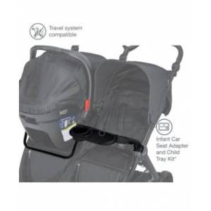 Britax B-Lively Double Infant Car Seat Adapter and Child Tray  - Black