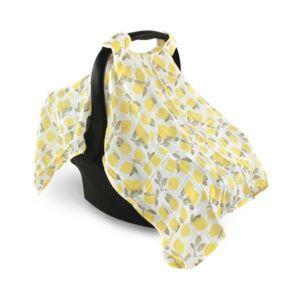 Hudson Baby Muslin Car Seat Canopy, One Size  - Lemons