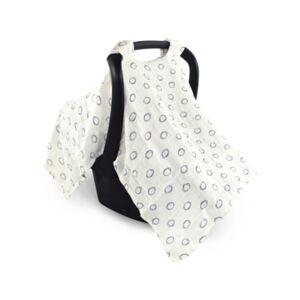 Hudson Baby Muslin Cotton Car Seat Canopy  - White
