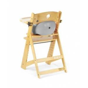 Keekaroo Height Right High Chair Natural with Infant Insert and Tray  - Natural/Grey
