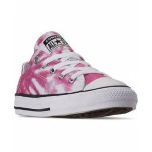 Converse Big Girls Chuck Taylor All Star Tie-Dye Low Casual Sneakers from Finish Line  - White, Cerise Pink