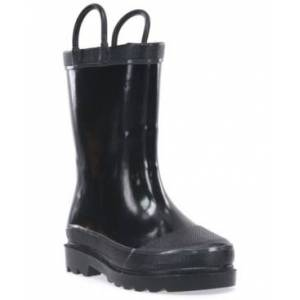 Western Digital Chief Toddler, Little and Big - Boy and Girl Firechief Rain Boots  - Black