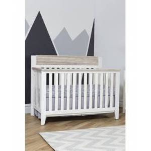Centennial Suite Bebe Hayes 4-In-1 Convertible Crib  - White/Natural