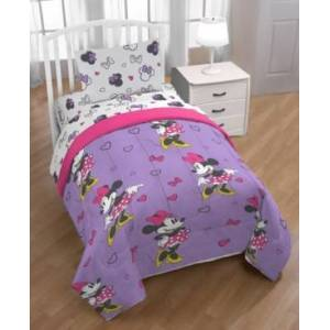 Disney Minnie Mouse Purple Love Full 5-Pc. Bed in a Bag Bedding  - Purple