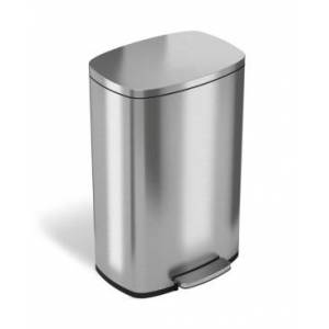 Halo 50 L / 13.2 Gal Premium Stainless Steel Step Trash Can  - Silver