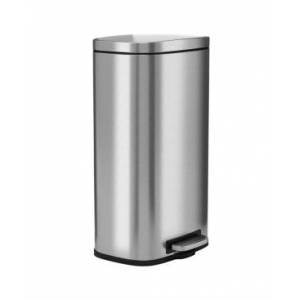 Halo 30 L / 8 Gal Premium Stainless Steel Step Trash Can  - Silver