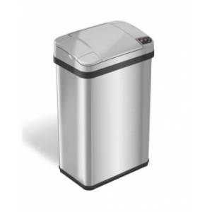 Halo 4 Gal Stainless Steel Touchless Trash Can with Deodorizer & Fragrance  - Silver