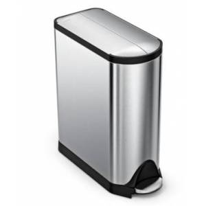 simplehuman 45-Liter Butterfly Step Trash Can  - NO COLOR