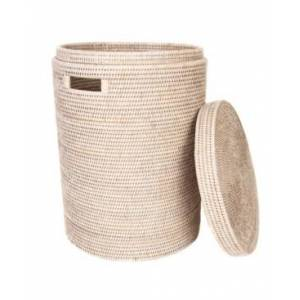 Artifacts Trading Company Artifacts Rattan Round Hamper with Lid and Cloth Liner