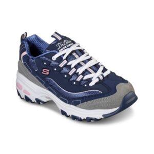 Skechers Women's D'Lites - New Journey Walking Sneakers from Finish Line  - Navy, Grey