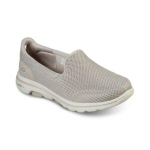 Skechers Women's GOWalk 5 Wide Width Walking Sneakers from Finish Line  - TAUPE