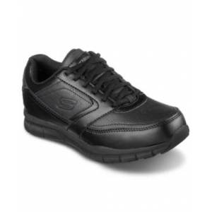 Skechers Women's Work Relaxed Fit Nampa - Wyola Slip Resistant Work Casual Sneakers from Finish Line  - Black