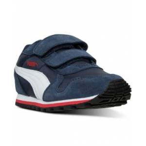 Puma Little Boys' St Runner Casual Sneakers from Finish Line  - PEACOAT/WHITE/HIGH RISK R