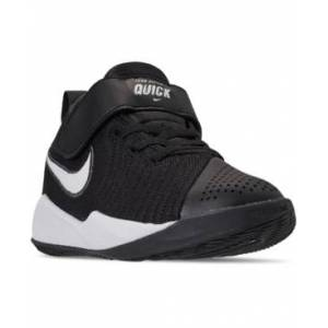 Nike Little Boys Team Hustle Quick 2 Stay-Put Closure Basketball Sneakers from Finish Line  - BLACK/WHITE-ANTHRACITE-VO