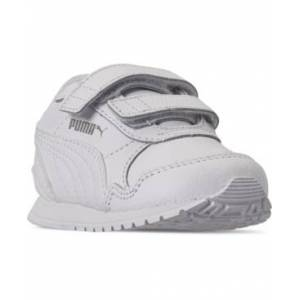 Puma Toddler Boys St Runner Leather Stay-Put Closure Casual Sneakers from Finish Line  - WHITE