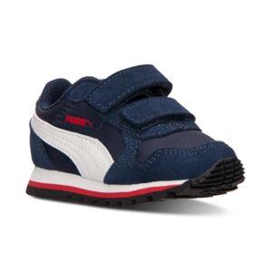 Puma Toddler Boys' St Runner Nylon V Casual Sneakers from Finish Line  - PEACOAT/WHITE/HIGH RISK R