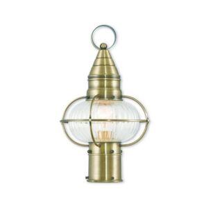 "Livex Closeout! Livex Newburyport 1-Light 15"" Post Lantern"